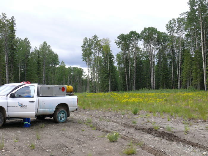 Oil Lease Site for Weed Control